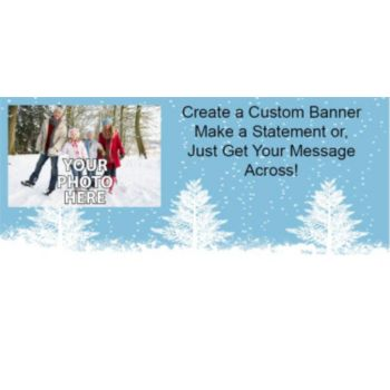 Winter Wonderland Scene Photo Banner