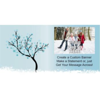 Snowflake Scene Custom Photo Banner
