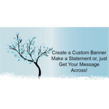 Snowflake Scene Custom Banner