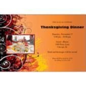 Fall Elegance Personalized Photo Invitations