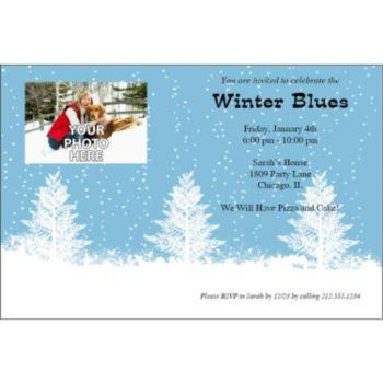 Winter Wonderland Personalized Photo Invitations