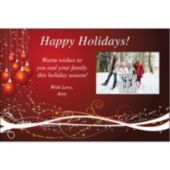 Holiday Ornaments Personalized Photo Invitations