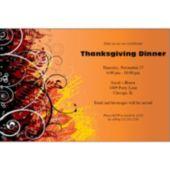 Fall Elegance Personalized Invitations