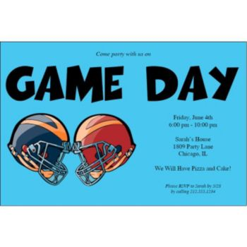 It's Game Day Personalized Invitations