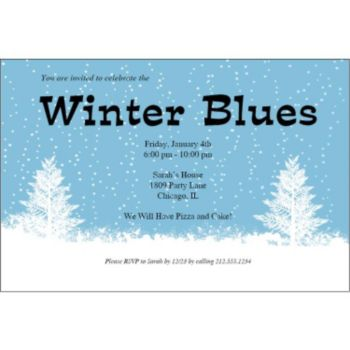 Winter Wonderland Personalized Invitations