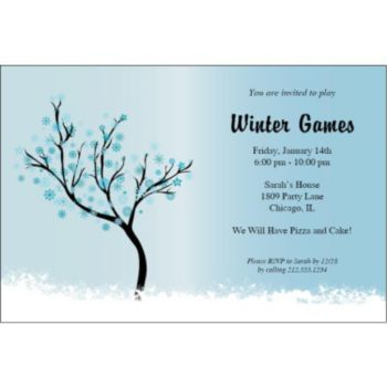 Snowflake Scene Personalized Invitations