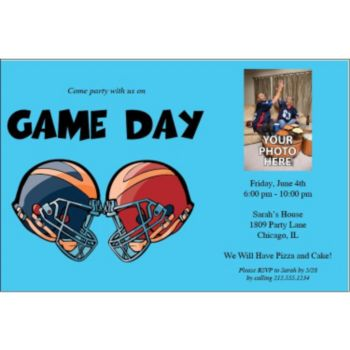 It's Game Day Personalized Photo Invitations