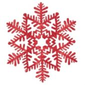Red Glitter Snowflake