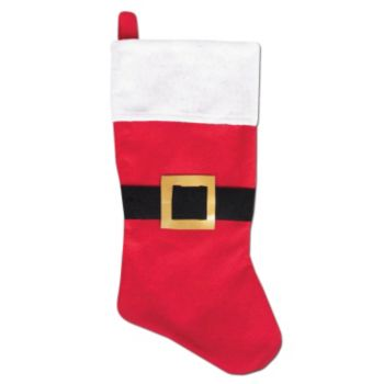 Red Felt Santa Stocking - 18 Inch