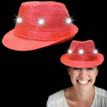 Neon Orange Light Up Fedora