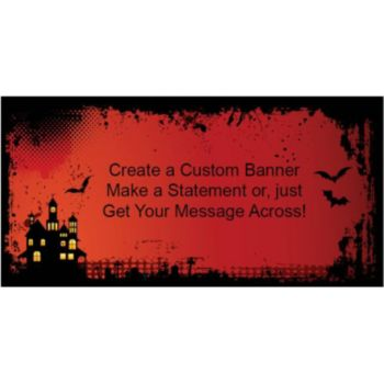 Haunted House Custom Banner