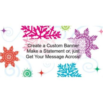 Bright Snowflake Custom Banner - Variety of Sizes