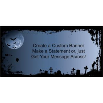 Graveyard Night Custom Banner