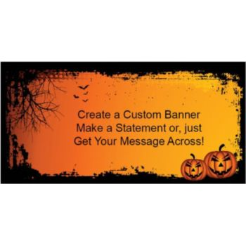 Spooky Pumpkin Halloween Custom Banner