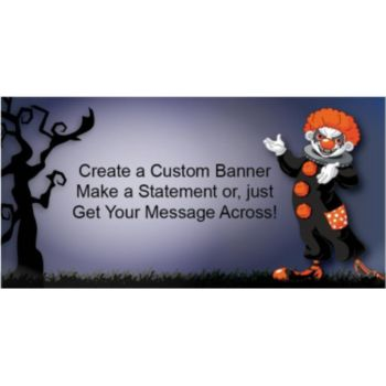 Creepy Horror Clown Custom Banner