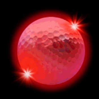 Red LED Golf Ball