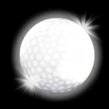 White LED Golf Ball
