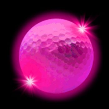 Pink LED Golf Ball