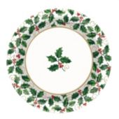 Holiday Holly Plates - 6 34 Inch, 40 Pack
