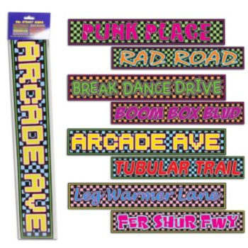 80's Street Sign Cutouts - 4 Pack