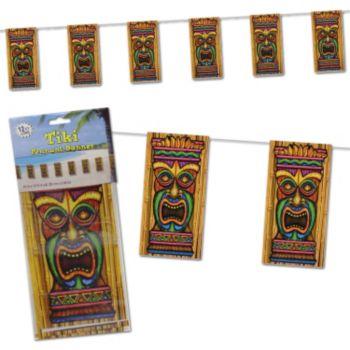 Tiki Pennant Banner