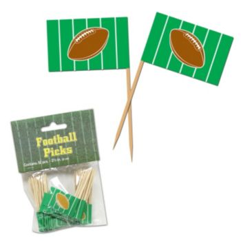 Football Garnish Picks, 50 Pack