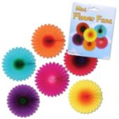 Mini Flower Fan Decorations-6 Pack