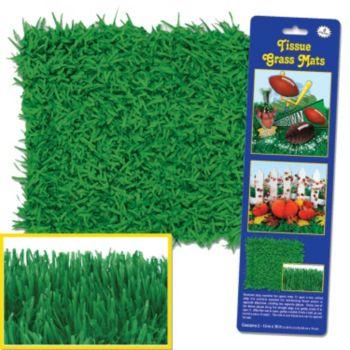 Green Tissue Grass Mats - 2 Pack