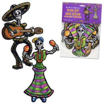 Day of the Dead Jointed Cutouts - 2 Pack