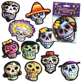 Day of the Dead Sugar Skull Cutouts - 10 Pack