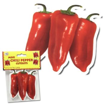 Chili Pepper Cutouts - 10 Pack