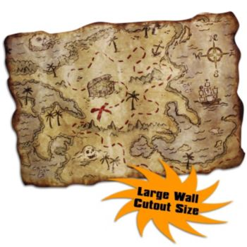 Treasure Map Cutout