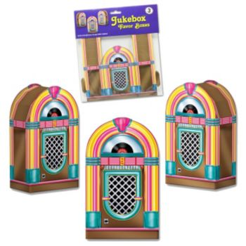 Jukebox Favor Boxes - 3 Pack