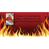 Red Hot Flames Custom Photo Banner Variety of Sizes