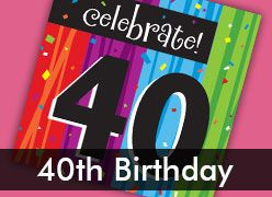 40th Birthday Party Decorations & Supplies