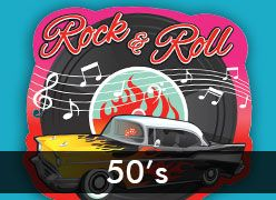 50's Rock and Roll Theme Party Supplies