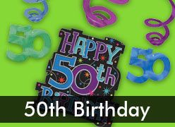 50th Birthday Decorations & Party Supplies