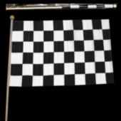 "Checkered 12"" x 18"" Flags - 12 Pack"
