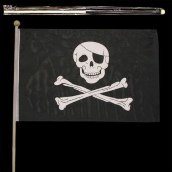 "SKULL & CROSSBONES  18"" x 12"" FLAGS"