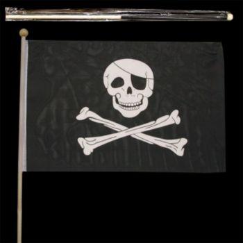 "SKULL & CROSSBONES  18"" x 12"" FLAGS"