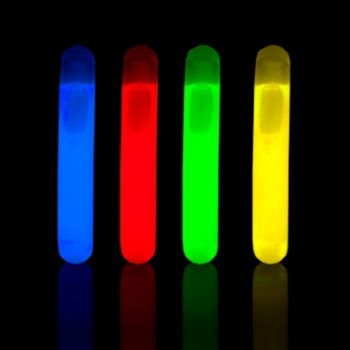 Assorted Color Mini Light Sticks - 1.5 Inch, 10 Pack