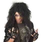 Heavy Metal Rocker Black Adult Wig