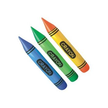 Inflatable Crayons - 23 Inch, 12 Pack