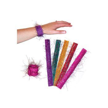 "Glitter 9"" Slap Bracelets"