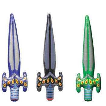 Inflatable Medieval Swords - 30 Inch, 12 Pack
