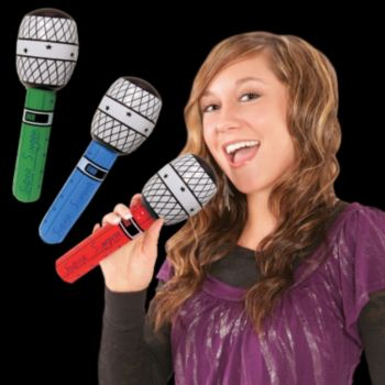 Inflatable Microphones - 10 Inch, 12 Pack