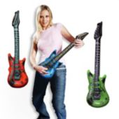 "Inflatable Guitars - 22"" Multi-Color, 12 Pack"