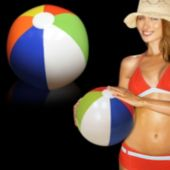"Inflatable Rainbow 16"" Beach Ball - 12 Pack"