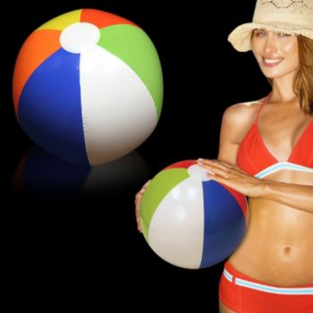 Inflatable Rainbow Beach Ball - 16 Inch, 12 Pack