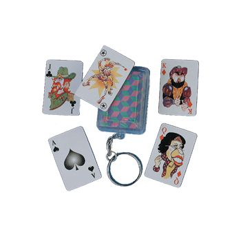"2""  PLAYING  CARDS  KEY  CHAIN"